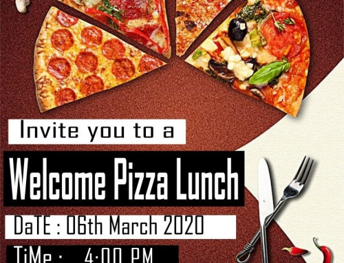 Semester 1, 2020 Welcome Pizza Event